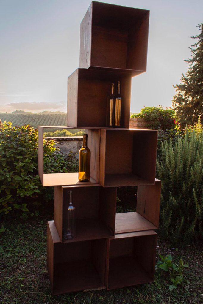 Cubi corten - scaffale vino cantinetta 1200x1801