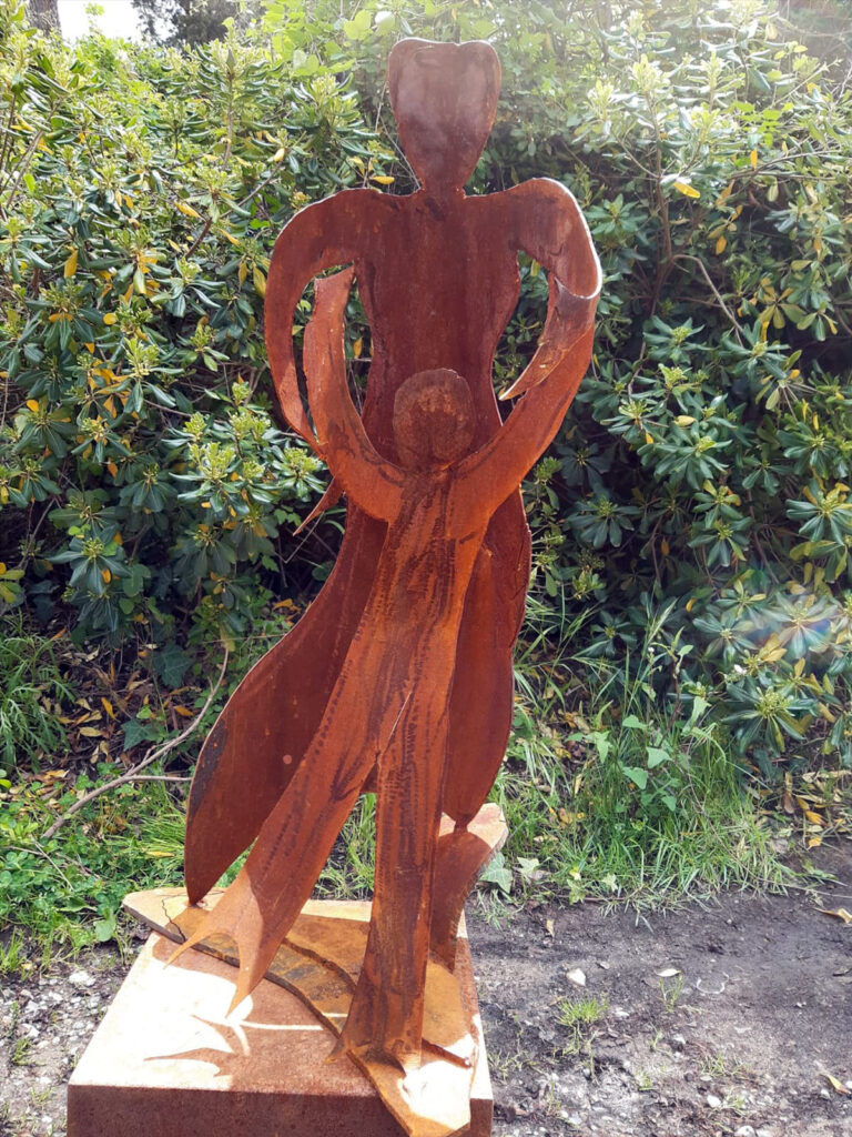 Mom - scultura in corten