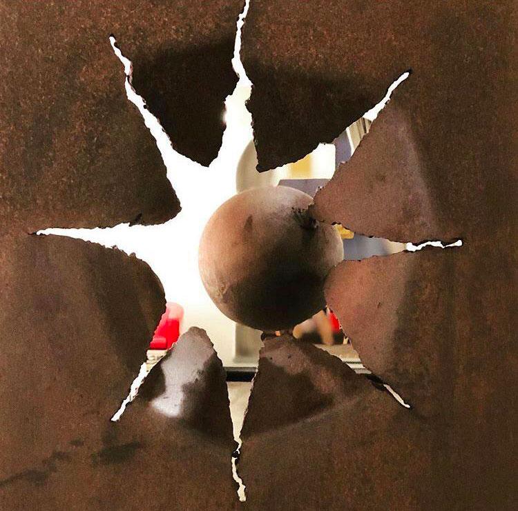 Potenza - acciaio corten cm 168x70 Tobian Art Gallery